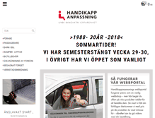 Tablet Preview of handikappanpassning.se